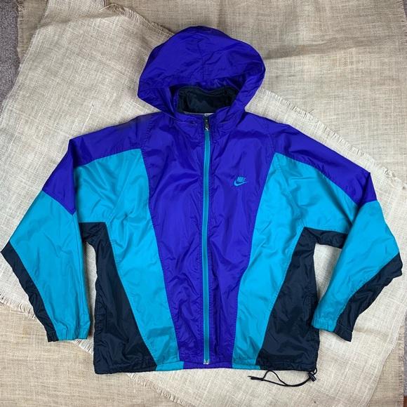 ac516e6c4 Vintage Nike Windbreaker Jacket Large Blue Purple